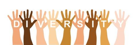 Diversity hands. Diverstity hands over white background. vector illustration royalty free illustration
