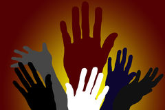diversity Hands stock illustration