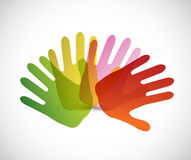Diversity hands concept illustration Stock Images