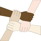 Diversity hands (isolated) Royalty Free Stock Images