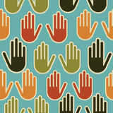 Diversity hands seamless pattern vector illustration