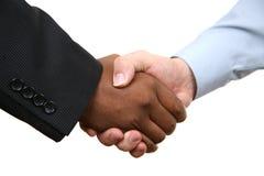 Diversity handshake Stock Image