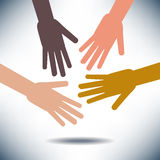 Diversity Image with Hands Royalty Free Stock Photos