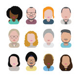 Diversity Interracial Community People Flat Design Icons Concept Stock Images