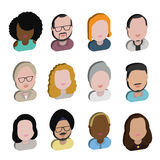 Diversity Interracial Community People Flat Design Icons Concept Royalty Free Stock Images