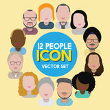 Diversity Interracial Community People Flat Design Icons Concept Royalty Free Stock Image