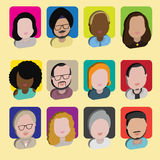 Diversity Interracial Community People Flat Design Icons Concept Royalty Free Stock Photography