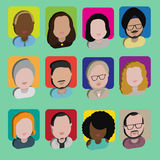 Diversity Interracial Community People Flat Design Icons Concept Royalty Free Stock Photo