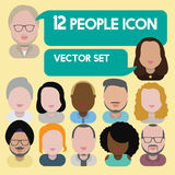 Diversity Interracial Community People Flat Design Icons Concept Royalty Free Stock Photos
