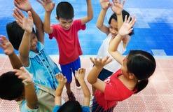 Diversity kids hands Stock Image