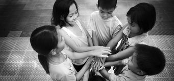 Diversity kids hands Royalty Free Stock Images