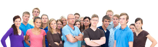Diversity - large group of people Stock Images