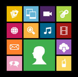 Diversity mobile application people Royalty Free Stock Image