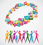 Diversity mobile application people Royalty Free Stock Images