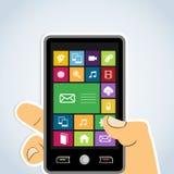 Diversity mobile application Royalty Free Stock Photos