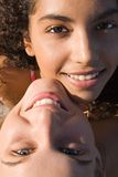 Diversity, multi racial couple. Of beautiful young women stock images