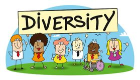 Diversity in my team royalty free illustration