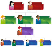 Diversity Organizational Chart Royalty Free Stock Photography