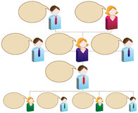 Diversity Organizational Chart. An organizational chart based upon a diversity of its employees - speech bubble style Royalty Free Stock Photos