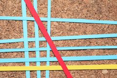 Diversity Paper Lines Royalty Free Stock Photography