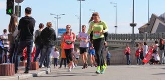 Diversity of of participants the marathon Stock Photography