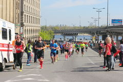 Diversity of of participants the marathon Stock Image
