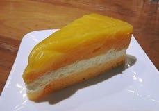 Diversity of pastry decorated with fruit, Bakery foodstuffs, Fresh bakery,mini cake Stock Image