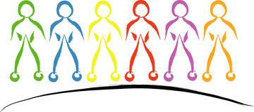 Diversity people. Concept of diversity people on white Stock Images