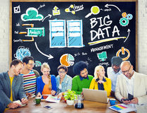 Diversity People Big Data Learning Teamwork Discussion Concept Royalty Free Stock Images