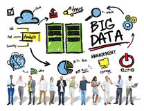 Diversity People Big Data Share Digital Devices Concept Stock Image