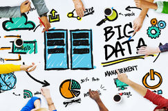 Diversity People Big Data Working Teamwork Discussion Concept royalty free stock image