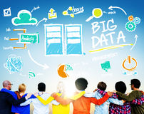 Diversity People Big Data Working Teamwork Friendship Concept Stock Image