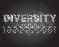 Diversity People Blackboard Royalty Free Stock Photography