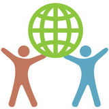 Diversity People of Color Support Earth Royalty Free Stock Photos