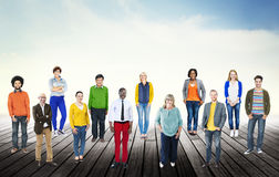 Diversity People Community Standing Concept Stock Image