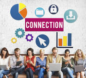Diversity People Connection Digital Devices Browsing Concept royalty free stock photos