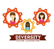 Diversity people design Stock Images