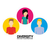 Diversity people design Royalty Free Stock Images