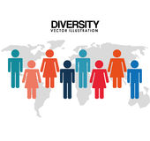 Diversity people design Royalty Free Stock Photos