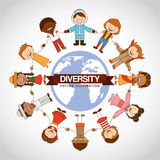 Diversity people design Stock Photography