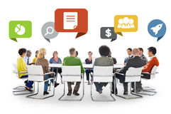 Diversity People Discussion Barinstorming Communication Concept Stock Image