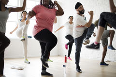 Diversity People Exercise Class Relax Concept royalty free stock photography