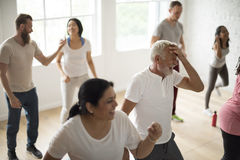 Diversity People Exercise Class Relax Concept. Diversity People Exercise Class Relax stock image