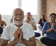 Diversity People Exercise Class Relax Concept stock photos