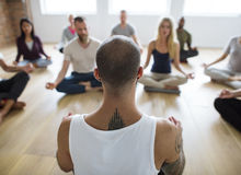 Diversity People Exercise Class Relax Concept Royalty Free Stock Images