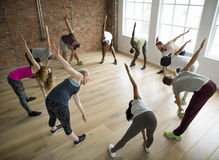 Diversity People Exercise Class Relax Concept Stock Images