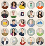 Diversity People Network Cloud Computing Connecting Concept Royalty Free Stock Photo