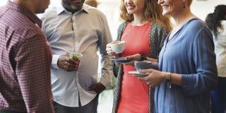 Diversity People Party Brunch Cafe Concept Stock Photo