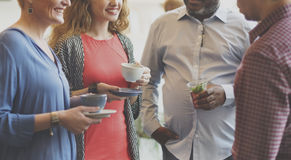 Diversity People Party Brunch Cafe Concept.  Royalty Free Stock Images