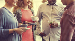Diversity People Party Brunch Cafe Concept Royalty Free Stock Photography